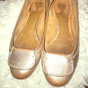 Chloe Rose Gold Flats Authentic PreLoved